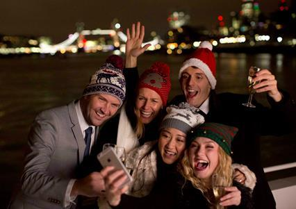 A Christmas Party on the River Thames with City Cruises, London 2019