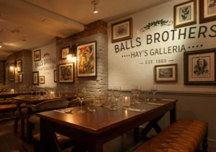 Christmas Parties 2019 at Balls Brothers Hay's Galleria, London SE1