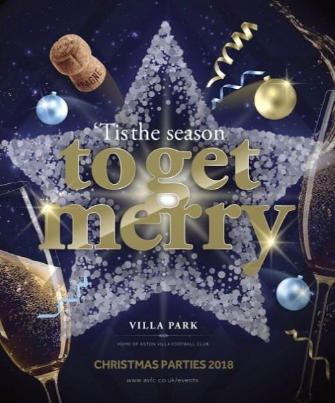 'Tis the Season to get Merry for Christmas Parties 2019 at Villa Park Football Club, Birmingham