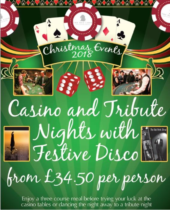 Christmas Parties 2019 at The Red Lion Whittlesford Bridge