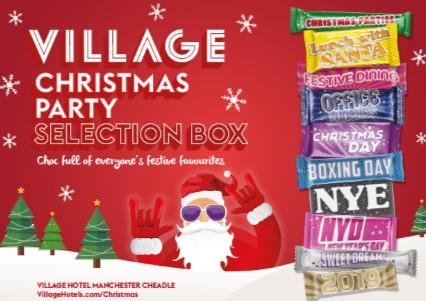 Pic 'n' Mix Christmas Party 2019 Selection Box at Village Hotel Club Manchester Cheadle