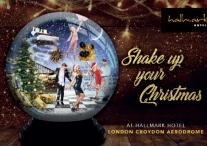 Shake up your Christmas Parties 2019 at the Hallmark Hotel, London Croydon Aerodrome
